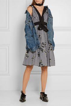 Marc Jacobs   Flocked gingham cotton-poplin dress   NET-A-PORTER.COM