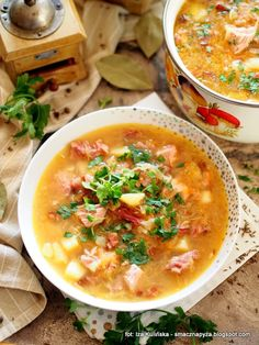 Polish Recipes, Polish Food, Soup Recipes, Dinner Recipes, Cheeseburger Chowder, Curry, Food And Drink, Lunch, Ethnic Recipes