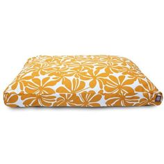 Majestic Pet Products Yellow Plantation Large Rectangle Pet Bed
