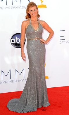 The 25 Sexiest Emmys Looks of All Time - Connie Britton, 2012 from #InStyle