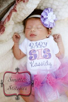 Lil Big and All the In Betweens  Sis & Bro by SmittenStitchesinGA, $26.00