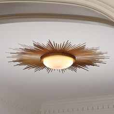 Sunburst Flushmount Light Fixture - Mid-Century Modern type fixture