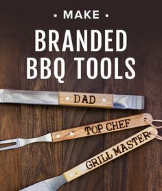 Make branded bbq tools