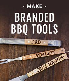 Make branded bbq tools
