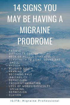 The migraine prodrome is the absolute most important phase of a migraine, in terms of treatment. The earlier a migraine can be recognized and. Migraine Diet, Migraine Pain, Chronic Migraines, Migraine Relief, Chronic Pain, Silent Migraine, Migraine Triggers, Chronic Illness, Migraine Meme