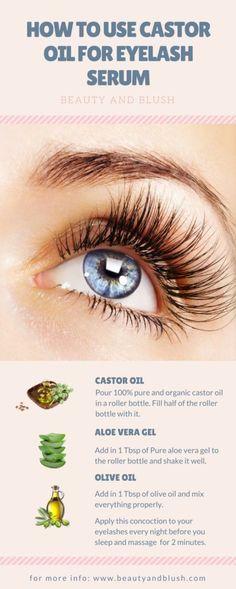 How to Use Castor Oil for Eyelash Serum