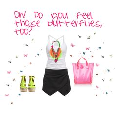 """You give me butterflies!"" by sinnersss on Polyvore"