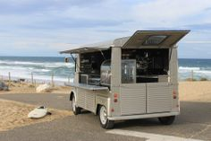 Milk Coffee Co's Citroen HY van Gone surfing.
