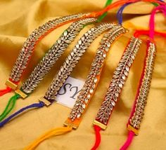 🌟Grab this raakhi for just Rs +shipping🌟 🌟 To buy them dm or whatsapp me Diy Fabric Jewellery, Thread Jewellery, Beaded Jewelry, Handmade Rakhi Designs, Handmade Jewelry Designs, Silk Thread Bangles Design, Rakhi Making, Hand Embroidery Designs, Textiles