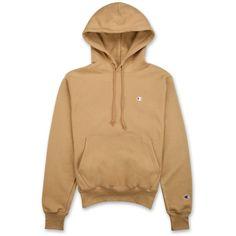 Champion Reverse Weave Hoodie   DTLR.com ($40) ❤ liked on Polyvore featuring tops, hoodies, jackets, hoodie top, fleece lined hooded sweatshirt, low top, champion hoodie and reversible hoodie
