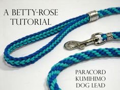 Tutorial for Kumihimo Paracord Dog Leash Lead - Flat and Round braiding Instant Download PDF Beading Pattern