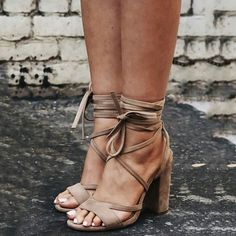 Material:Suede|Heel Height:11cm|Embellishments:Cross Strap,Thread  #sandals #holiday