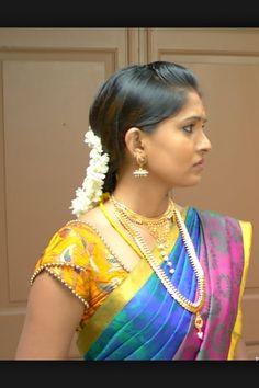 Saree blouse double sleeve.