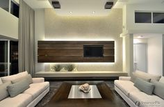 minimalist living room modern farmhouse | Modern minimalist living room TV background wall design effect chart ...