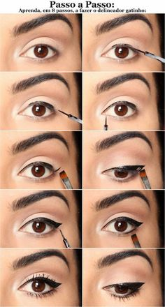 10 Simple Step by Step Eyeliner . - 10 Simple Step By Step Eyeliner Tutorials For Beginners – Make Up Tutorials - Eyeliner Make-up, Eyeliner Hacks, Eyeliner Styles, How To Apply Eyeliner, Eyeliner Ideas, Black Eyeliner, Eyeliner Brands, Eyeliner Application, Silver Eyeliner