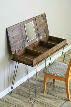 Hairpin legs diy make up vanity