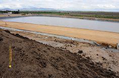 Nezahualcóyotl, Méx. 18 Julio 2013. Las extensas áreas verdes de la Ciudad Deportiva de Neza requieren en época de estiaje una considerable cantidad de agua para riego, es por ello que se construyeron cuatro estanques de distinto tamaño.