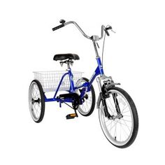 Mantis Tri-Rad Folding Adult Tricycle, 20 inch Wheels, 16 inch Frame, Unisex, Blue >>> Check out the image by visiting the link. Chopper Motorcycle, Motorcycle Style, Motorcycle Accessories, Motorcycle Dealers, Custom Choppers, Custom Motorcycles, Custom Bikes, Indian Motorcycles, Adult Tricycle