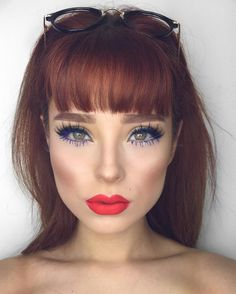 Likes, 151 Comments - Lupe Sujey Cuevas Glam Makeup, Beauty Makeup, Hair Makeup, Hair Beauty, Creative Hairstyles, Cute Hairstyles, Gorgeous Redhead, Hair Dos, Auburn