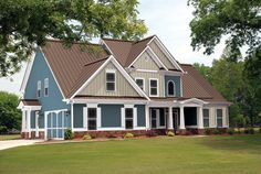 All the benefits of Premium Pro-Rib® and Premium Pro-Snap® with an attractive, textured finish, check out Multi-Tone Steel Roofing today! Steel Roofing, Metal Roof, Building Materials, Shed, Outdoor Structures, Cabin, House Styles, Home, Garage