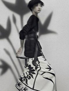 "Yue Ning in ""Sophisticated Lady"" bySarah MoonforVogue Italia"