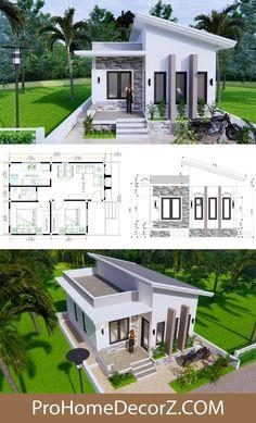 Bungalow Haus Design, Modern Bungalow House, Sims House Design, Duplex House Design, Small House Design, Modern House Floor Plans, Sims House Plans, House Layout Plans, Home Floor Plans