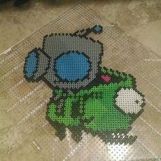 Gir Invader Zim perler beads by _8bitgeek_