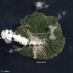 Deadly Pyroclastic Flow at Paluweh Volcano: A fresh scar on the north side of this Indonesian volcanic island reveals the flow of hot ash and rock.