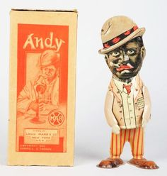 Tin Litho Marx Amos 'N Andy Walker Wind-Up Toy.
