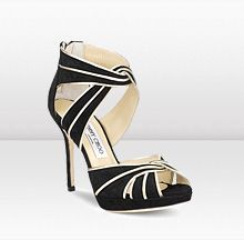 0f9062d9a03 Jimmy Choo KAI Inspired by the these glamorous platform sandals in black  soft suede trimmed with gold glitter piping are raised up on a heel.