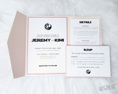 Personalized Star Wars Wedding Invitations Printed with Cards and Pockets. Affordable Wedding Invitations, Vintage Wedding Invitations, Printable Wedding Invitations, Wedding Invitation Design, Wedding Stationary, Custom Christmas Cards, Personalised Christmas Cards, Star Wars Invitations, Invites
