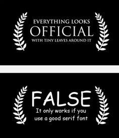 No Comic Sans .