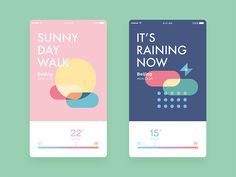 Weather Concept Design by Yuekun #Design Popular #Dribbble #shots