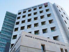 CEDARS-SINAI MEDICAL CENTER exterior branding and donor signage program.