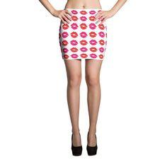 Lips - Mini Skirt (White)