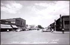 RPPC 1952 AINSWORTH NEBRASKA THEATRE REXALL DRUG COCA-COLA JC PENNY OLD POSTCARD
