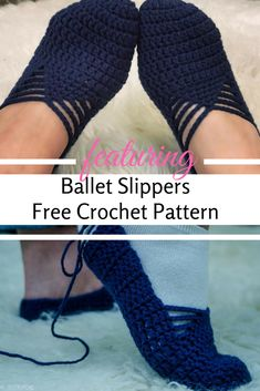 Ballet Slippers Free Crochet Pattern For Adults- Fast And Extremely Easy To Follow