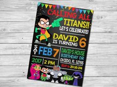 Are you gearing up for a Teen Titans Go birthday party or need tips on how to plan one? Calling all Teen Titans Go fans! We've rounded up 19 awesome ideas. From custom Teen Titans Diy Birthday Invitations, Birthday Party Invitations, Teen Titans Go, 6th Birthday Parties, 7th Birthday, Birthday Ideas, Happy Birthday, Kids Party Themes, Party Ideas