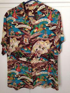 Hale Hawaii Vintage Land of Aloha Rayon Hawaiian Shirt, Exc. M Men's Kimono Shirt, Vintage Outfits, Vintage Fashion, Vintage Hawaiian Shirts, Bowling Shirts, Tailored Shirts, Aloha Shirt, Shirt Outfit, 50s Vintage