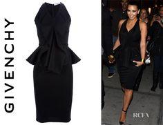 kim kardashian givenchy peplum dress