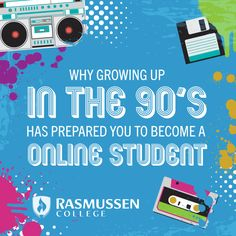 10 Reasons '90s Kids Make Great Online Students via @labernhagen #online #degree #90s