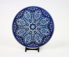 *Handmade Large Ceramic Trivet  *It can be used for hot plates. teapot or decoration  *Ethnic Tribal Motifs  *One-of-a-kind.  *Made in Turkey