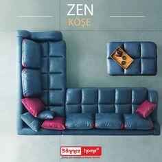 Zen Köşe Takımı modern ruhlu evlere zarif bir şıklık getiriyor. #Modern #Furniture #Köşe #Koltuk #Takımları #Zen