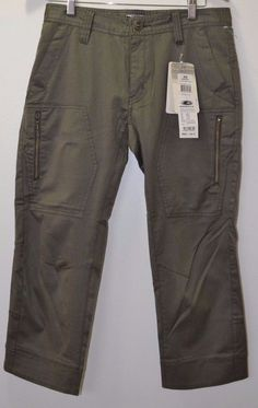 NWT OAKLEY SKULL CONCEALMENT CROPPED pants men's 449054JP WORN OLIVE Size 32 #Oakley #CasualPants