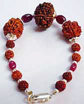 Rudraksha bracelet for those people who want to keep themselves cool.