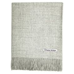 Check out this item at One Kings Lane! Solid Alpaca Throw, Light Gray/Natural