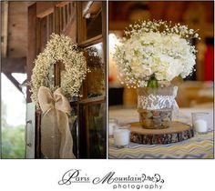 Hightower Falls Wedding Paris Mountain Photography wedding flowers wedding centerpieces