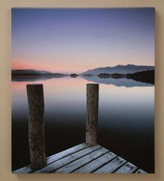 Derwentwater Jetty Canvas Print - Acacia