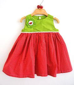 Tamago Craft watermelon baby dress www.tamagocraft.blogspot.it