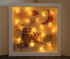 personalisiertes NACHTLICHT Baby & KinderLampe GESCHENK Geburt Baby Kind, Table Lamp, Kids, Home Decor, Great Gifts, Personalized Baby, Night Light, Young Children, Table Lamps
